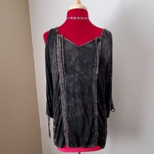 Faded look blouse